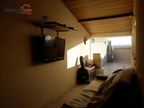 Cobertura Com 2 Dormitórios À Venda, 94 M² Por R$ 350.000 - Vila Pires - Santo André/sp - Co0224