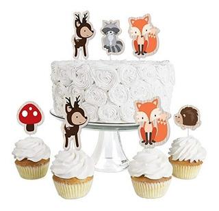 12pcs Cupcake Kits recién nacido bebé Fiesta Decoración Shower Bautizo Wrapper Cup