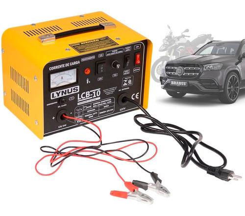 Carregador Bateria Automotivo Carro Moto 12v 24v 100ah Cl1