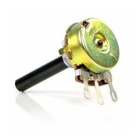 10x Potenciômetro Carvão 23mm 220k S/chave Lin Novo