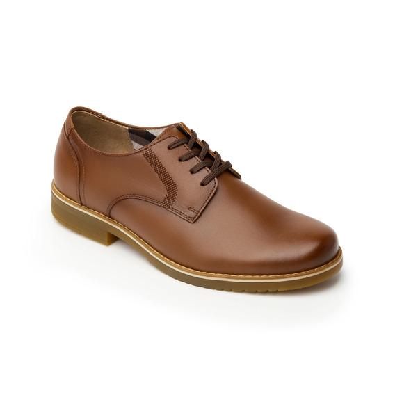 Calzado Zapato Escolar Flexi Niño 50901 Tan