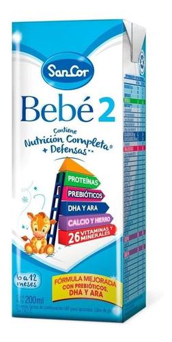 Imagen 1 de 1 de Leche de fórmula líquida Mead Johnson SanCor Bebé 2  en brick 200mL por 90 u