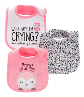Simple Joys by Carters Baby Girls paquete de 3 pelele de ajuste