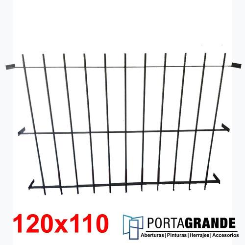 Reja Para Ventana 120x110 Barrote Hierro Del 12