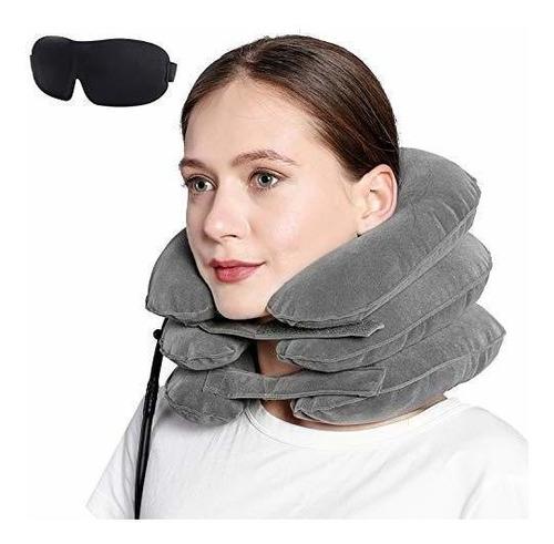 Cervical Del Cuello Dispositivo De Tracción Almohada Infla