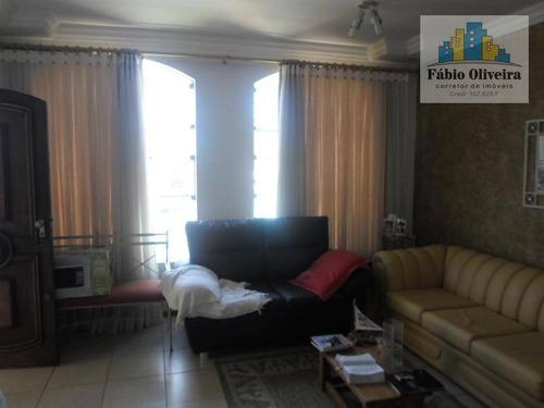 Casa Alto Padrão , Recentemente Reformada , Com 3 Dormitórios À Venda, 185 M² Por R$ 504.999 - Vila Linda - Santo André/sp - Ca0131