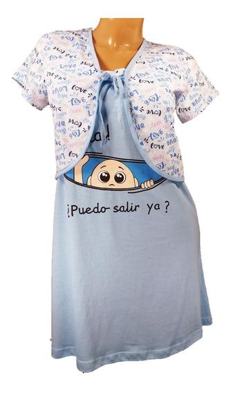 Camisón Maternal Embarazada Amamantar Lactancia Dormir