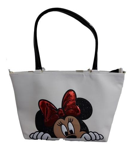 Imagen 1 de 6 de Bolsa Para Dama De Disney De Minnie Mouse En Color Blanco