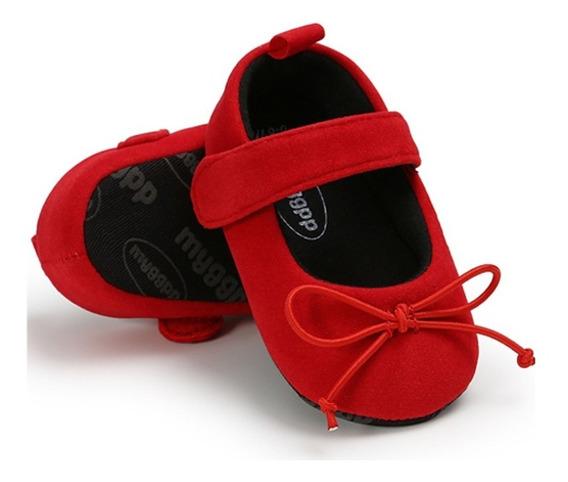 Zapatos Para Bebé De Gamuza Rojos