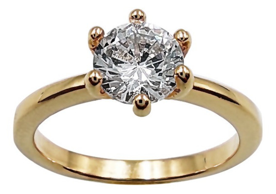 Anel Solitário Aliança Noivado The Ring Boutique Ouro 18k