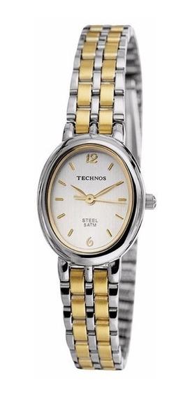 Relógio Feminino De Pulso Dourado/ Prata 2035rk/5k Technos