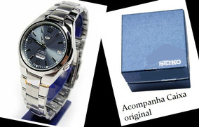 Relógio Seiko 5 Automático Pulseira Aço Snk621- K1