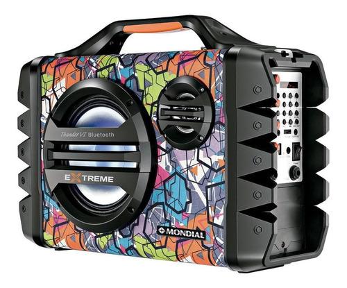 Caixa de som Mondial Multi Connect Thunder VI Extreme portátil com bluetooth  110V/220V