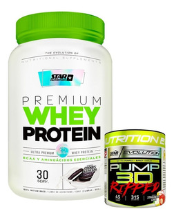 Whey Protein 2 Lb Star Nutrition + Pump Ripped 315 Gr