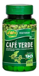 Kit 07un. - Café Verde 400mg 90 Comprimidos Unilife Vitamins