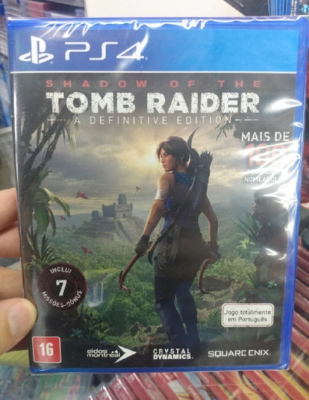 Shadow Of The Tomb Raider Ps4 Mídia Física Novo Lacrado