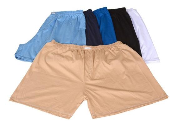 5 Shorts Cueca Samba Canção Malha 100% Algodão Plus Size