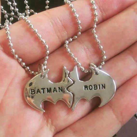 Colar Batman E Robin Melhores Amigos Casal Par