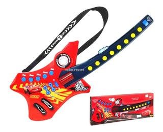 Guitarra Electronica Cars Con Correa Original Disney