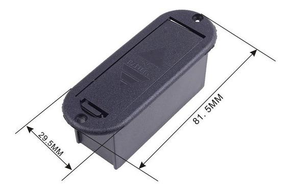 Case P/ Bateria 9v Violão E Baixo, Guitarra, Pedal