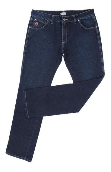 Calça Jeans Feminina Azul Escuro Com Elastano - 18405