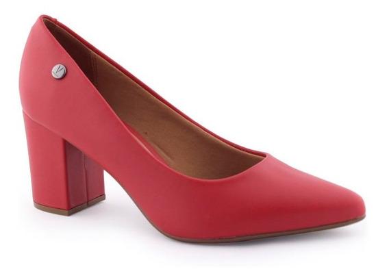 Sapato Scarpin Feminino 1290 400 Pelica Bico Afinado Vizzano