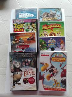 Películas Infantiles Dvd Lote 4 Peliculas A Elección C/ Caja