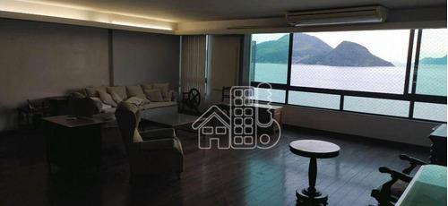 Apartamento Com 4 Dormitórios À Venda, 240 M² Por R$ 2.850.000,00 - Icaraí - Niterói/rj - Ap4246