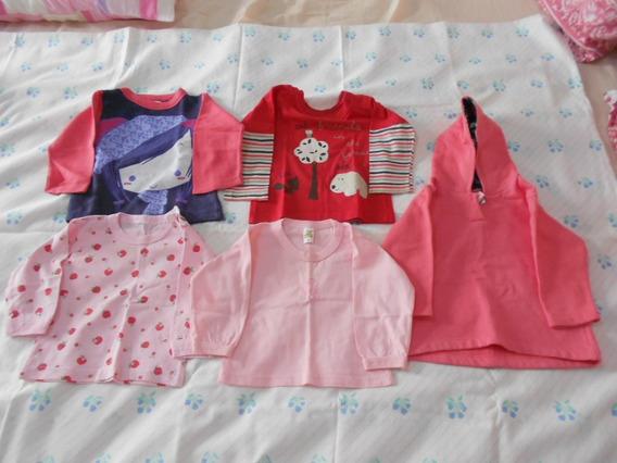 Lote Com 13 Blusa / Camiseta Manga Longa Menina Infantil