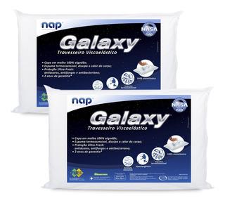 Kit 2 Travesseiros Nasa Nap Galaxy Antialérgico Toque Macio