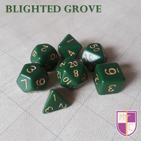 Set De Dados Poliédricos Wiz - Blighted Grove