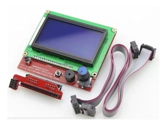 Display Controladora Lcd 128x64 Impressora 3d Reprap Sd