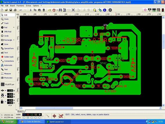 Placa Lisa Para Montar Amplificador Artesanal 100watts