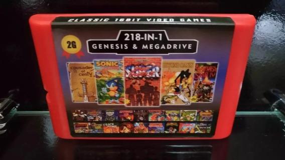 Fita / Cartucho 218 In 1 Mega Drive E Genesis