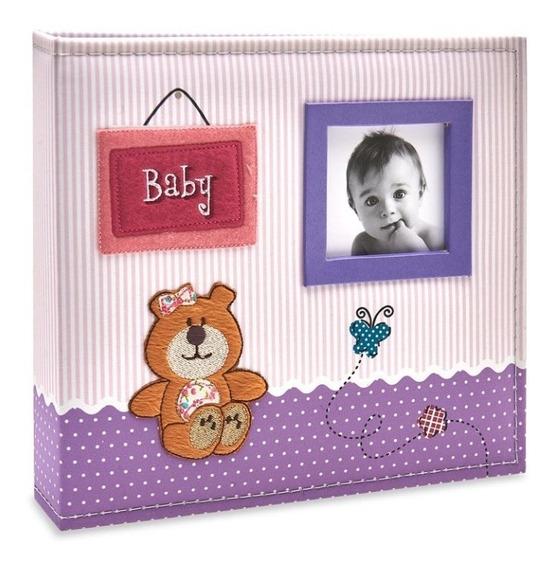 Álbum Bebê Tecido Ferragem 100 Fotos 15x21 801 - Ical