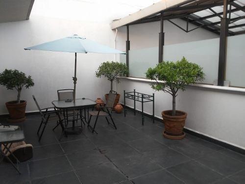 Penthouse En Mixcoac, 3 Recamaras, Terraza