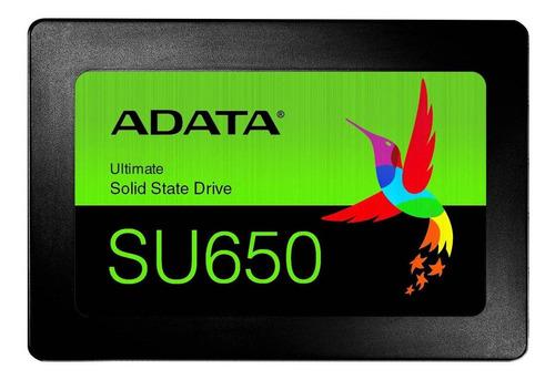 Disco sólido SSD interno Adata Ultimate SU650 ASU650SS-240GT-R 240GB negro