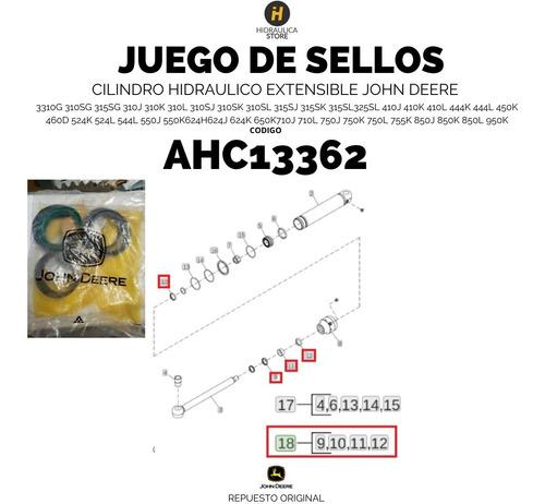 Imagen 1 de 3 de Ahc13362 Cilindro Hidraulico Extensible John Deere Ah149815