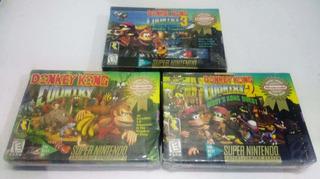 Trilogía Donkey Kong Country Snes Nuevo Retromex Tcvg