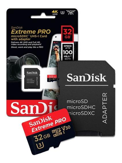 Cartão De Memoria 32gb Micro Sd Cl10 100mb/s Extreme Pro Sds