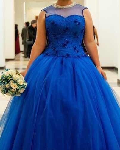 Vestido De Xv Años Azul Rey, Incluye Crinolinas