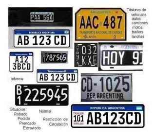 Informe De Dominio Autos-motos- Mandatario Nacional-