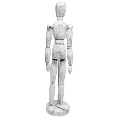 Boneco Manequim Articulado 30cm Vintage Branco