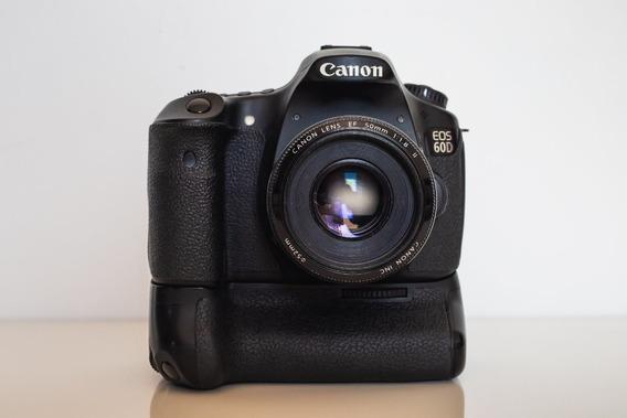 Canon 60d + Battery Grip + Lente E Acessórios