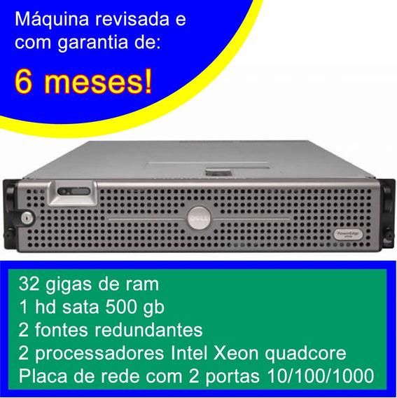 Servidor Dell 2950 - 2x Quad - 32gb - 1 Terabyte De Hd