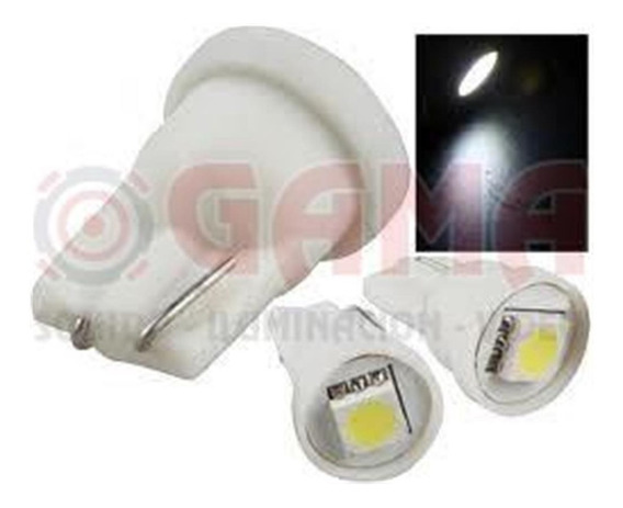 Lampara Led Auto 12v. Wedge Bulbo 1 Led 5050 Blanca Lam-t5-1