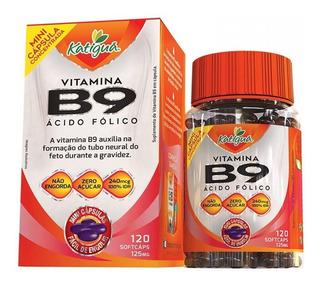 Vitamina B9 Ácido Fólico - 120 Mini Cápsulas - Katiguá