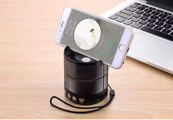 Mini Caixa Caixinha Som Bluetooth Fm Pendrive Até 9 Hs Uso