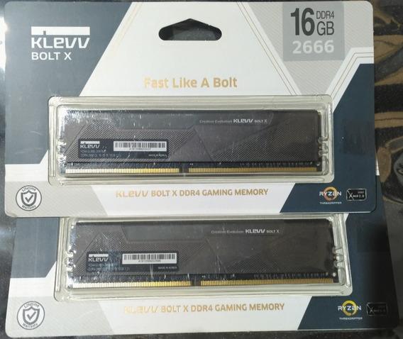 16x2(32gb) Klevv Bolt X Ddr4 2666 Memoria Ram