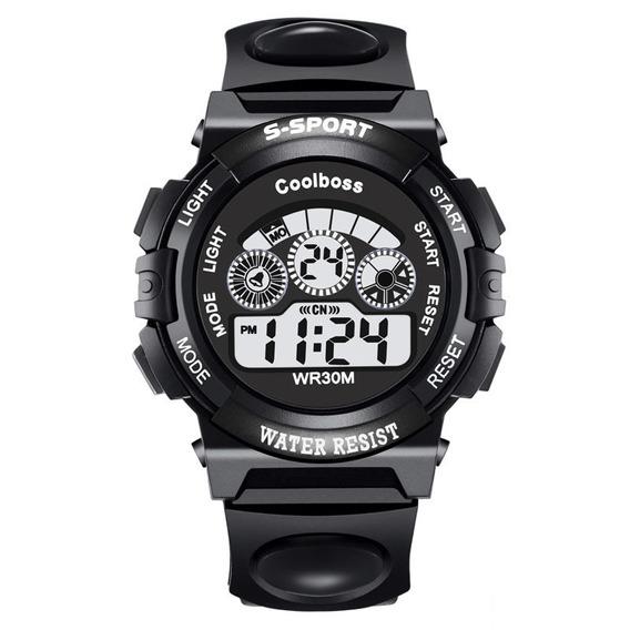 Relógio Luxo De Pulso Unissex - Cronômetro Alarme Led Collor